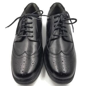 Deer Stags Walkmaster Black Wingtip Shoes 9 1/2 M